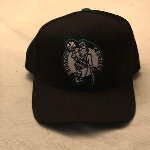 Mitchell and Ness Black Boston Celtic SnapBack Hat
